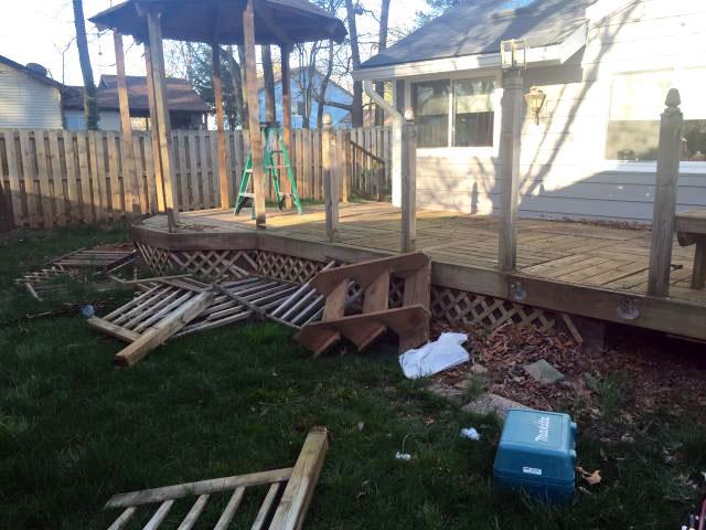 Deck Demolition in Fairfax County